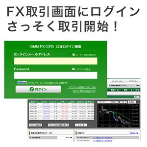 FX取引画面にログインして取引開始